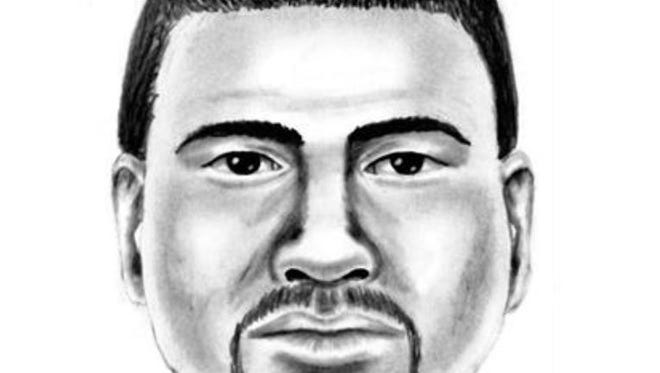 A Mesa Police Department artist created this composite sketch of a man who showed his genitals to a 10-year-old girl selling lemonade in Queen Creek on April 9.