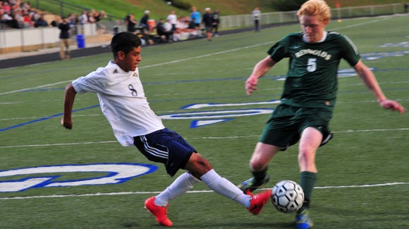 The first meeting between the Reynolds and Roberson soccer teams (on Sept. 24) was decided by a penalty shootout.