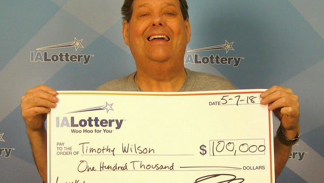 Timothy Wilson of West Des Moines has won two Iowa Lottery prizes in the past six months. He won $100,000 in May.