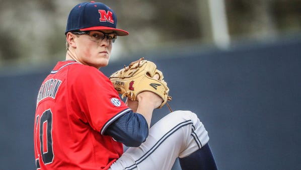 Ole Miss starting pitcher David Parkinson pitched six innings and earned his second win of the season Friday.