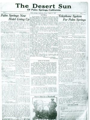 An original copy of The Desert Sun