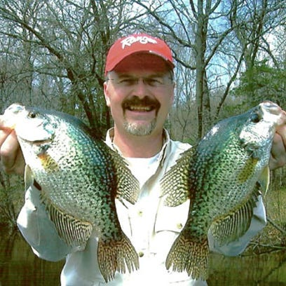 Guide Wally Banfi with Lake Wisconsin crappies.