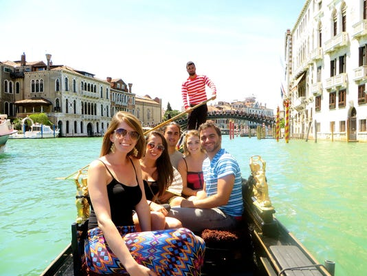 Students in Venice, Italy