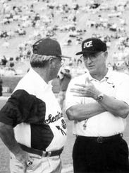 Gene McDowell  and Bobby Bowden.