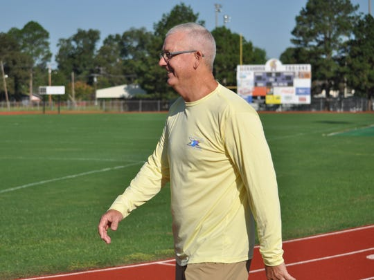 Billy Moore walks Saturday in honor of his daughter Katie.