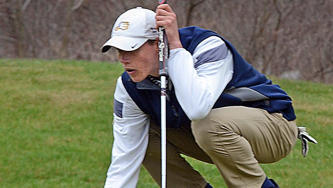 Senior Nic Hoffman is one of only two returning varsity golfers for Hartland.