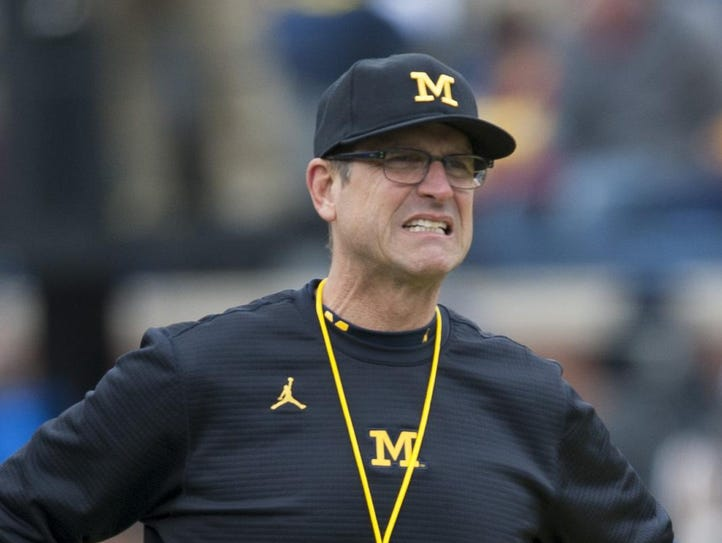 If Jim Harbaugh is here because Bo was here, well,