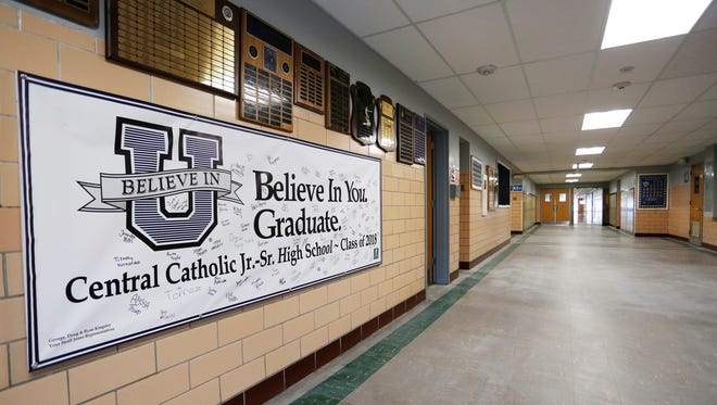 The halls are empty Thursday, July 21, 2016, at Central Catholic Jr./Sr. High School. However, classes begin August 16, but teachers will arrive earlier to prepare their classrooms. The Lafayette Diocese, which includes Central Catholic, requires background checks of its employees every three years.