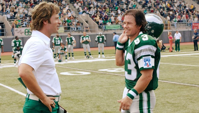 """Stills from the movie """"Invincible"""" starring Greg Kinnear as Dick Vermeil and Mark Wahlberg as Vince Papale."""