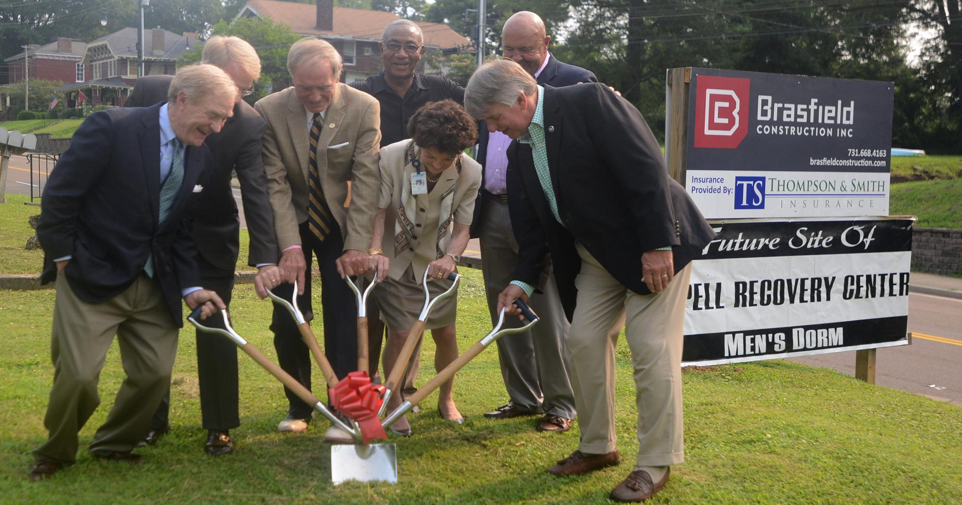 aspell recovery center breaks ground on men s dormitory