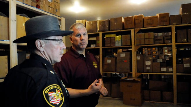 Ohio's Midwest location puts it at the center of the drug transportation system. Police last year found millions of dollars in synthetic drugs and other items in this Fairfield County building. Sheriff David Phalen, left, said it might have been the biggest distribution operation in the state.