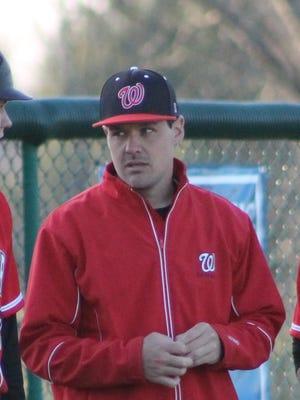 Male baseball coach Jake Fiorella