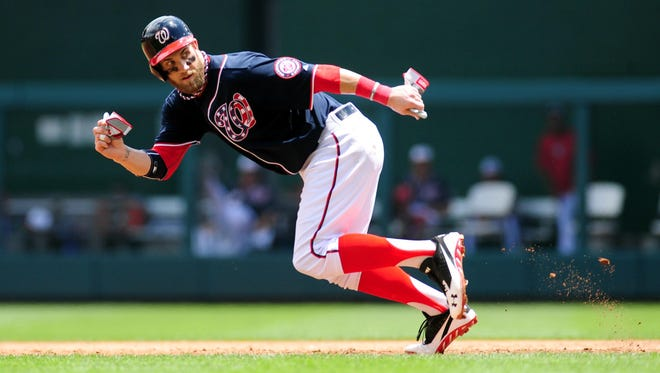 Bryce Harper, the 2012 National League rookie of the year, covers a lot of ground in the Nationals outfield and on the basepaths, but injuries have been a concern.