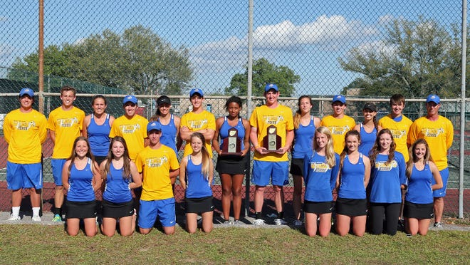The Washington High boys and girls tennis teams repeated as District 1-3A champions last week. It was the eighth-consecutive district title for the boys, third-consecutive for the girls. The champs will host Niceville in the first round of the Region 1-3A tournament.