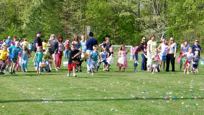 Children enjoy the Williamson County Parks and Recreation's annual Egg Hunt.