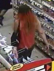 Surveillance footage shows images of a person of interest