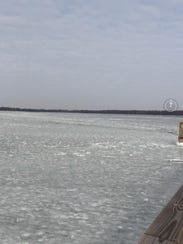 Ice covered much of the southern end of Reelfoot Lake,