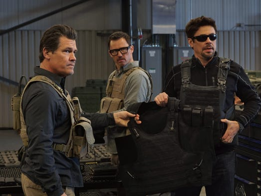 "Josh Brolin (from left), Jeffrey Donovan and Benicio Del Toro lead a secret U.S. mission in ""Sicario: Day of the Soldado."" The ""Sicario"" sequel arrives in theaters June 29."
