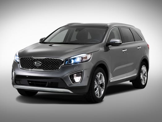 Photos released by Kia of the coming redesigned 3rd-generation Sorento SUV.