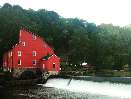 The iconic Red Mill in Clinton