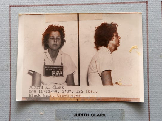Booking photo of Brinks robbery convict Judith Clark