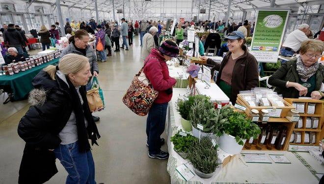 The Milwaukee County Winter Farmers Market is held in the Greenhouse Annex at the Domes, Layton Blvd. at W. Pierce St.