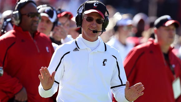Cincinnati head coach Tommy Tuberville in November.