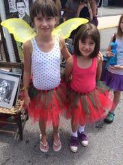 Sisters Adrienne McKenna, 10, and Emma McKenna, 8 sport