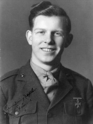 This undated photo shows Pfc James B. Johnson in his U.S. Marine Corps uniform.