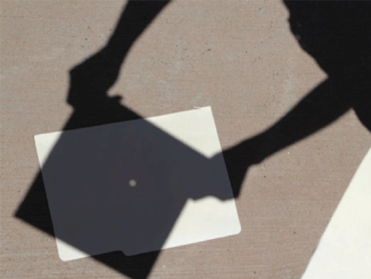 A pinhole projector allows for safe eclipse-viewing.
