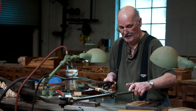 Retired wood type cutter Norb Brylski, who died Jan. 22, 2018, had a Hamitlon Wood Type Legacy Project typeface named in his honor.