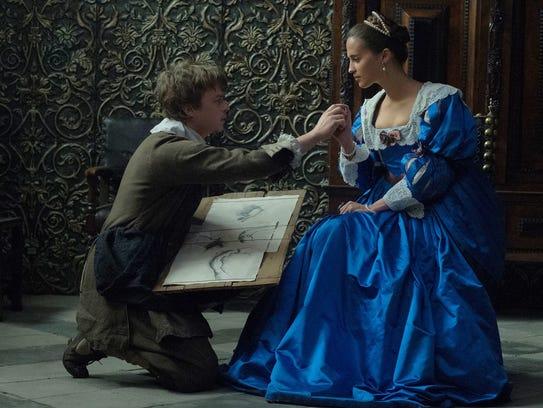 "Dane DeHaan and Alicia Vikander star in ""Tulip Fever."""