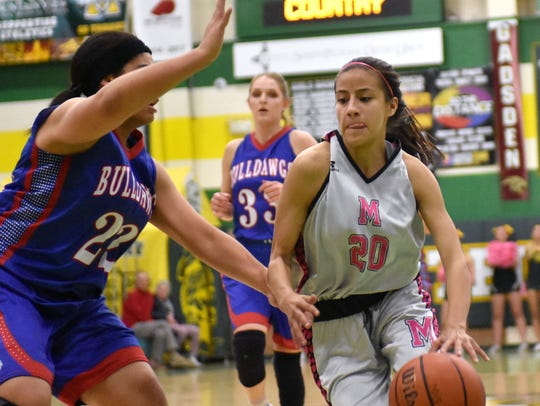 Genesis Tellez (20) and the Mayfield Trojans are at