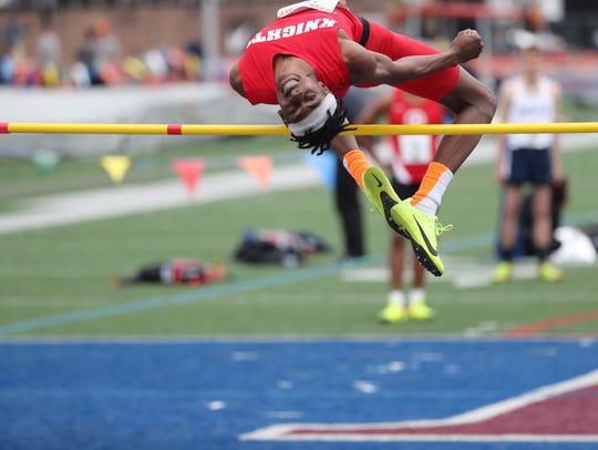 Jadon Watson, pictured here at Penn Relays, took home gold at the state Meet of Champions.