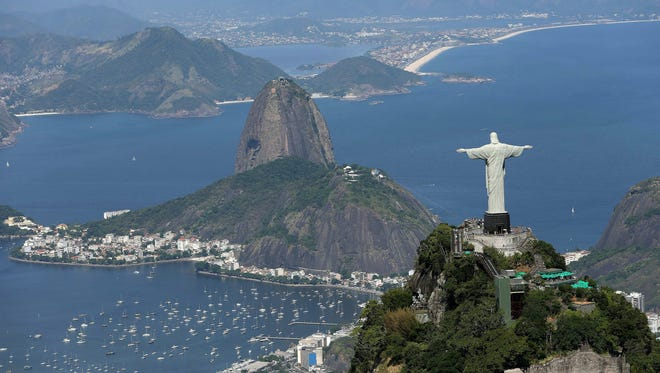 A file photo date February 2014 showing an aerial view of the 'Christ the Redeemer' statue overlooking Rio de Janairo, Brazil.