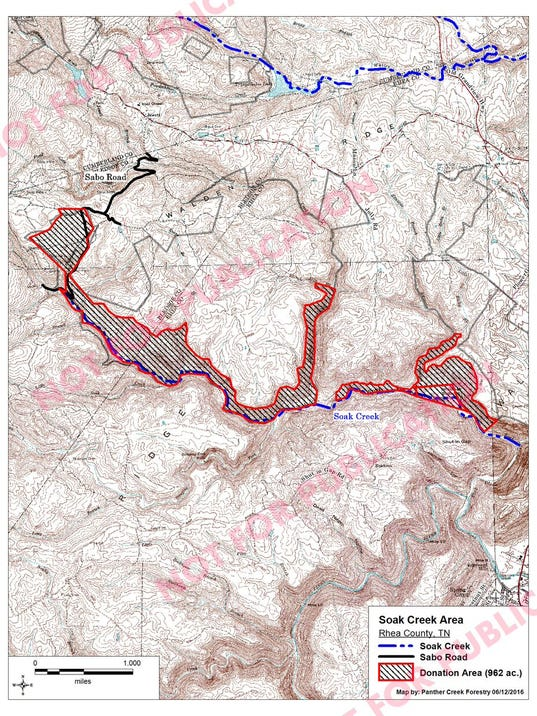 Map of Soak Creek Section