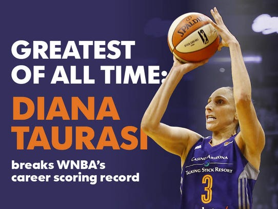 Diana Taurasi is the WNBA's all-time leading scorer.
