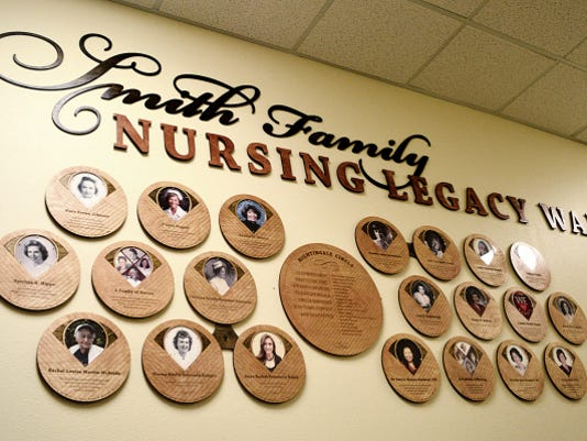 The NMSU College of Health & Social Sciences has erected the Smith Family Nursing Legacy Wall, to honor important contributions made by individual nurses.