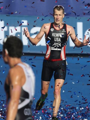 Hunter Kemper, an Olympian, has been a fan favorite at past triathlons in Des Moines.
