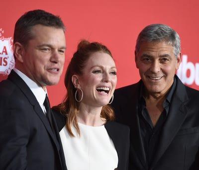 George Clooney, Matt Damon bring 'Suburbicon' to L.A. Matt Damon