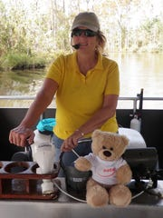 Capt. Kathy Wilkinson pilots her Eco-Tours of South