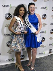 Miss Massachusetts Gabriela Taveras, left, and Miss