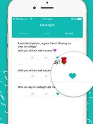 A screenshot of the social networking app Sarahah.