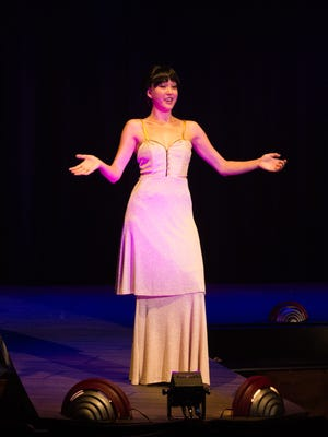 """Amanda Glenn as Louise in Theater Works' production of """"Gypsy."""""""