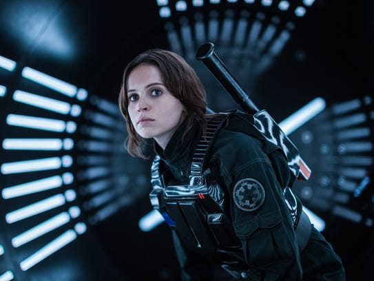 Felicity Jones stars as Jyn Erso, a Rebel with a cause,