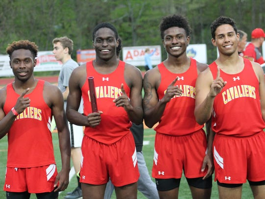 Purcell Marian won the 4x100 relay at the Anderson