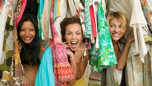 If you have small closets and too many clothes, consider