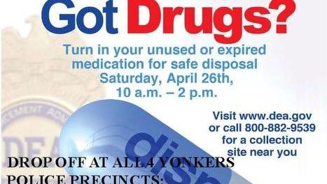 Drug poster for Yonkers' drug take-bacj day.