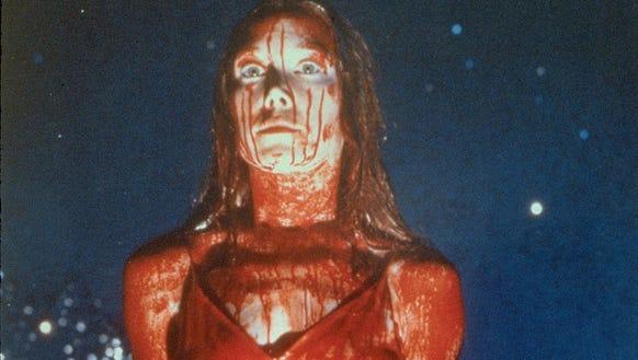 Sissy Spacek in the famous pig-blood scene in 'Carrie.'