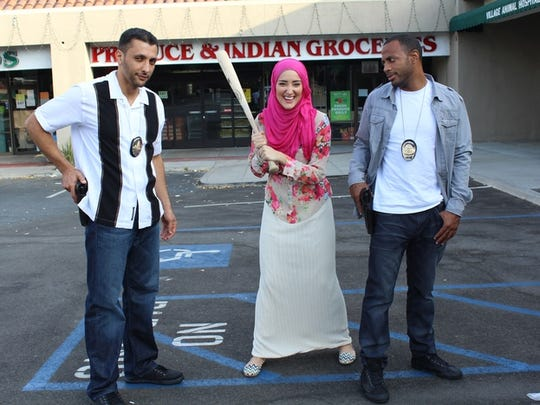 Nadine Abu-Jubara worked with Baba Ali, left, Yasemin